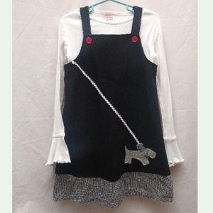 Sweet Potatoes 2p Black & WhiteJumper Dress Top  5